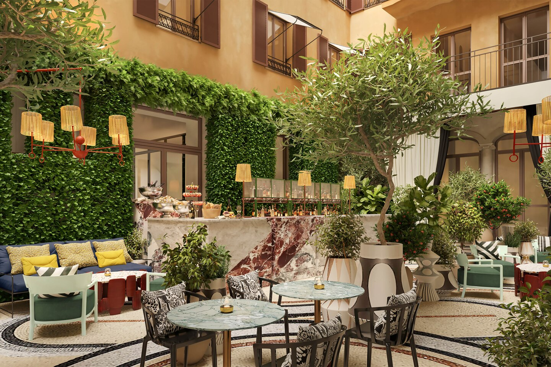 W Rome opens September 2021 (Giardino Clandestino Restaurant)