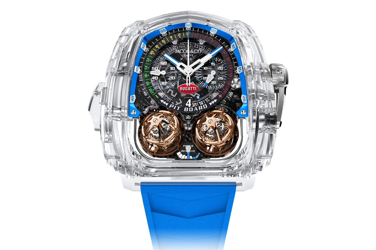 Jacob & Co debuts Twin Turbo Furious Minute Repeater in Sapphire Crystal Case