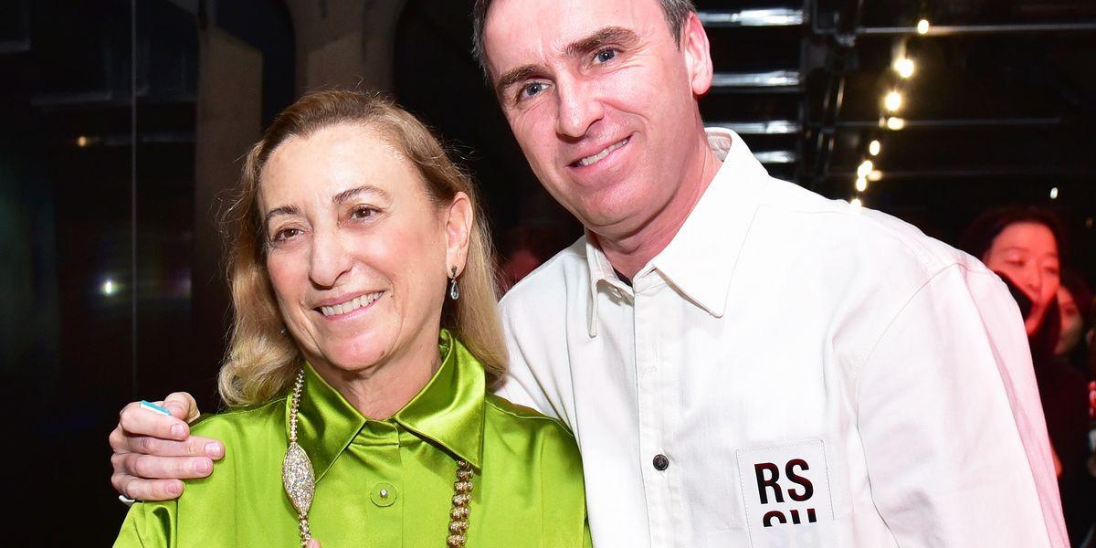 Miuccia Prada with Raf Simons