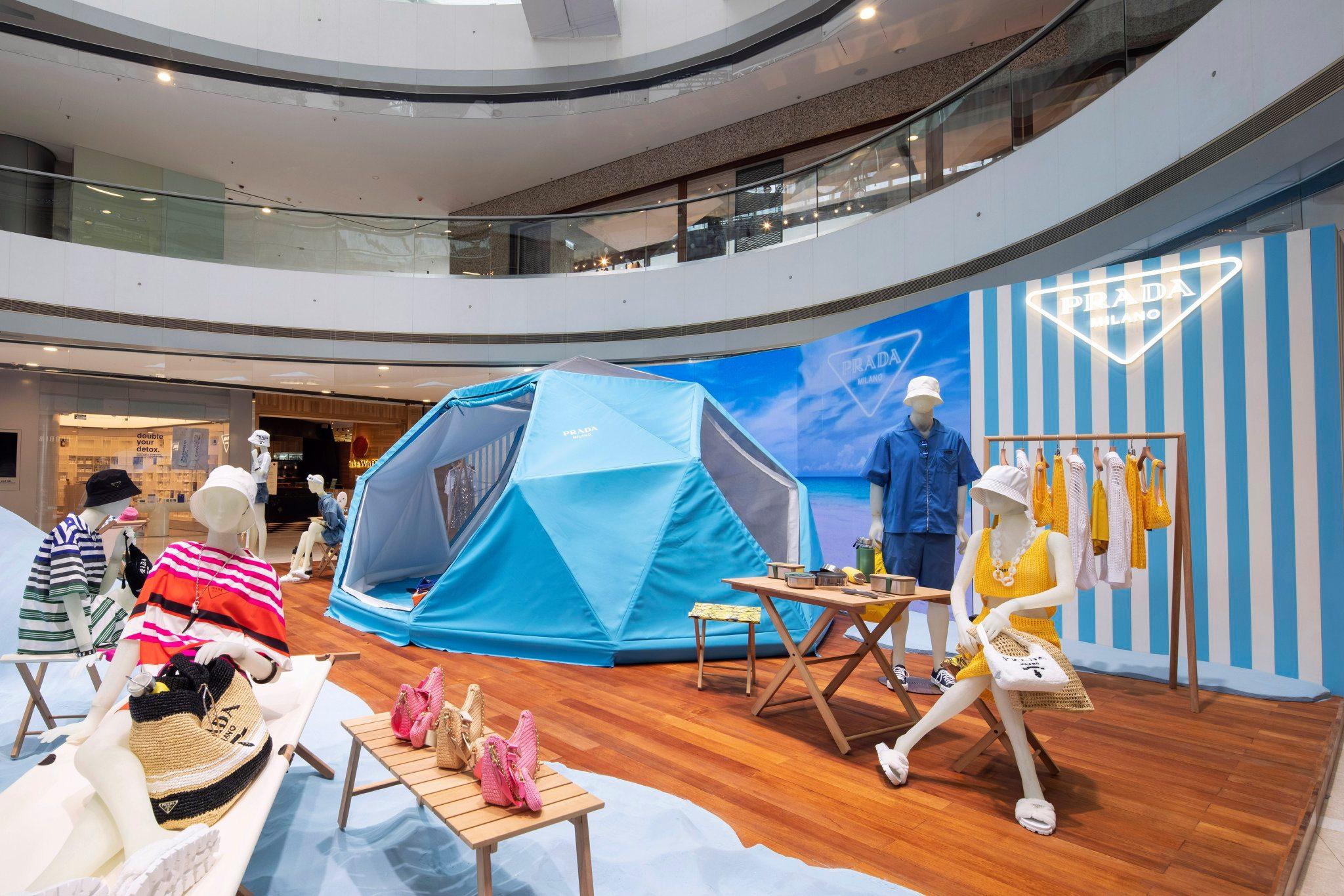 Prada Outdoor 2021 pop-up at Mall of Emirates, Dubai